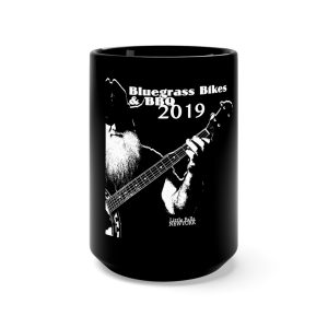 Bluegrass, Bikes & BBQ 2019 Black Mug 15oz